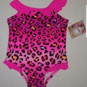 New 12 month pink leopard swimsuit!